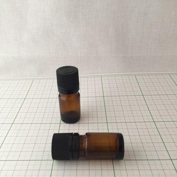 画像1: 遮光ビン アンバー ドロップ栓付き 5ml (1)