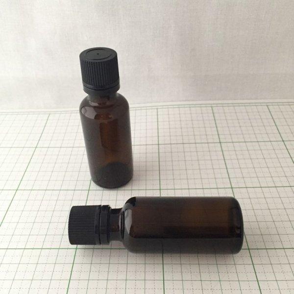 画像1: 遮光ビン アンバー ドロップ栓付き 30ml (1)