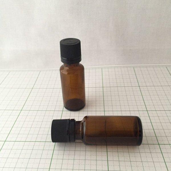 画像1: 遮光ビン アンバー ドロップ栓付き 20ml (1)