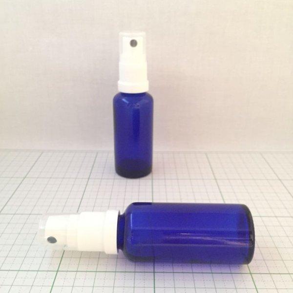 画像1: ガラススプレーボトル ブルー 30ml (1)