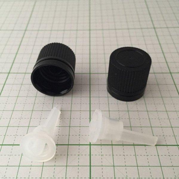 画像1: 遮光ビン ドロップ栓+キャップのみ 10個セット  (1)